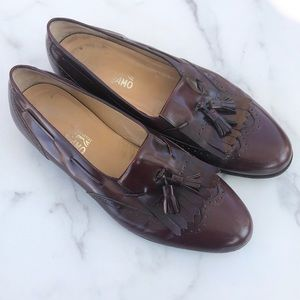 Men's Ferragamo tassel loafers
